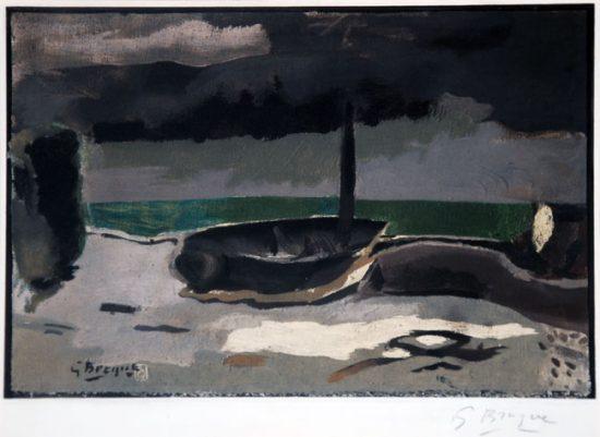 Georges Braque Lithograph, La Barque, 1950