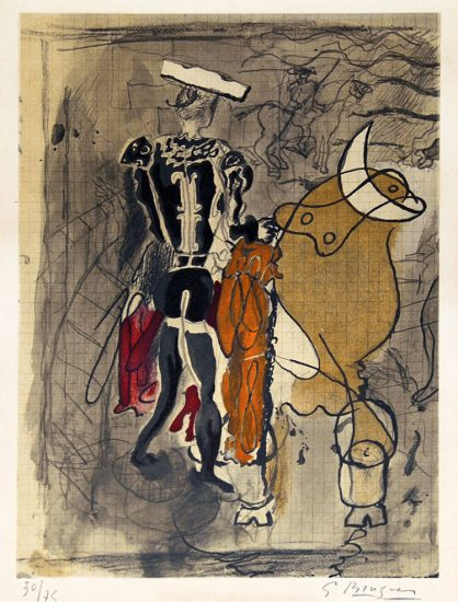 Georges Braque Lithograph, Artwork, Torero, 1950
