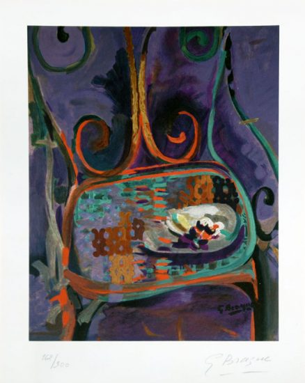 Georges Braque Lithograph, La Chaise (The Chair), 1962