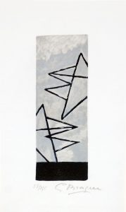 Georges Braque Lithograph, Ciel Gris I (Gray Sky I), 1959