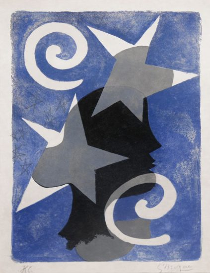 Georges Braque Lithograph, Profil from Lettera amorosa, 1963