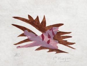 Georges Braque Lithograph, Le Feuille morte from Lettera amorosa, 1963