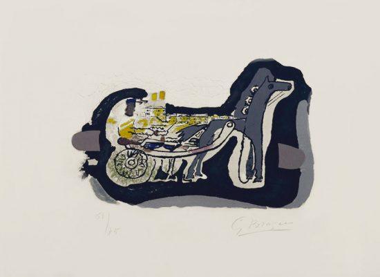 Georges Braque Lithograph, Gélinotte (Grouse), 1960