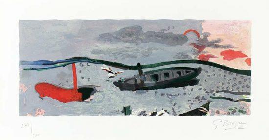 Georges Braque Lithograph, Bord de Mer (The Seaside), 1960