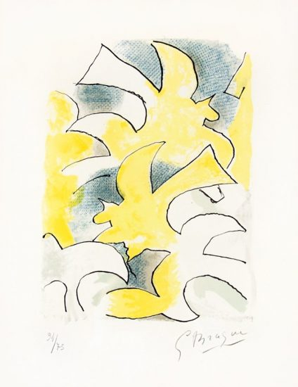 Georges Braque Lithograph, Migration from Lettera Amorosa, 1963