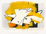 Georges Braque Lithograph, L'oiseau Jaune (The Yellow Bird), 1959