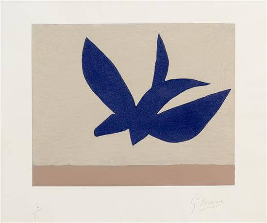 Georges Braque Etching, L'ordre des oiseaux (The Order of Birds), 1962