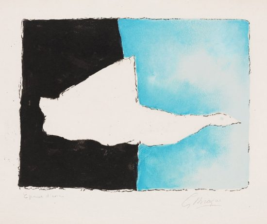 Georges Braque Lithograph, Le Canard (The Duck), 1961
