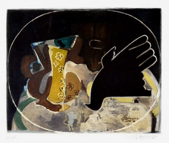 Georges Braque Etching, Pichet et Oiseau (Pitcher and the Bird), c. 1955