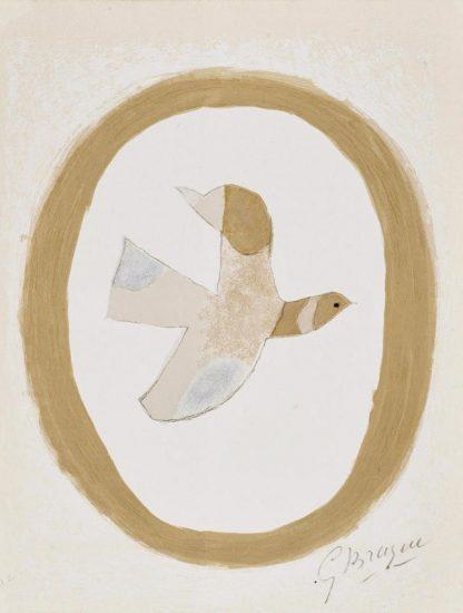 Georges Braque Lithograph, L'oiseau de sables (Bird of the Sands), from Braque Lithographe, 1962