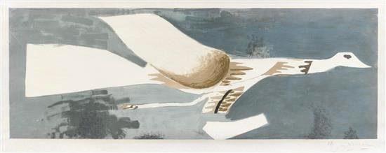 Georges Braque Lithograph, Grand Oiseau Gris (Big Gray Bird), c. 1956