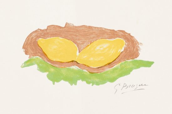 Georges Braque Lithograph, Les Citrons (Lemons), 1954