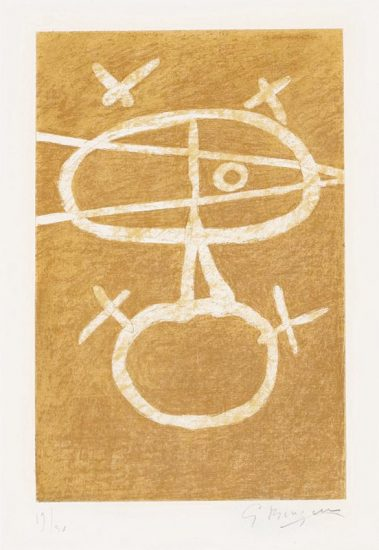 Georges Braque Lithograph, Le Signe (The Sign), 1954
