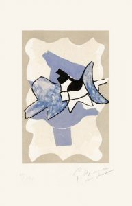Georges Braque Lithograph, Frontispiece, from La Nuit, La Faim (The Night, The Hunger), 1960