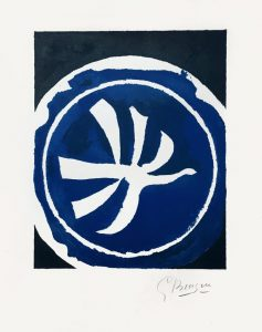 Georges Braque Lithograph, L'Oiseau Blanc (White Bird), 1961