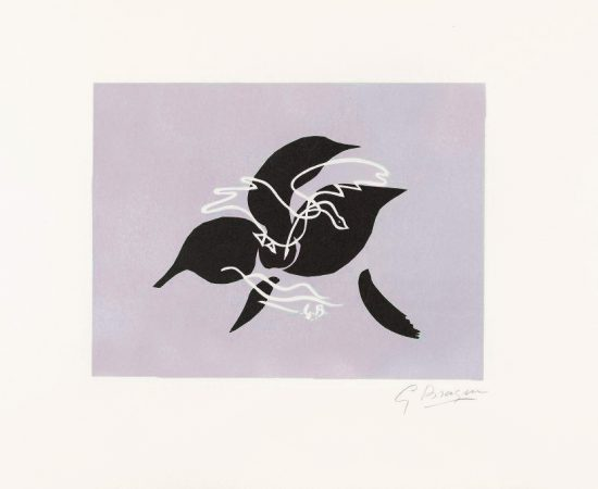 Georges Braque Lithograph, L'essor (The Flight) II, 1962