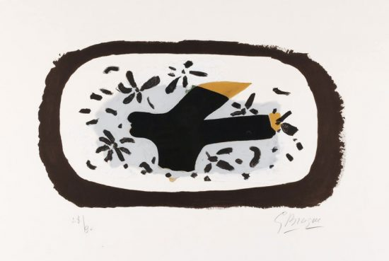 Georges Braque Lithograph, L'Oiseau d'Octobre (October Bird), 1962