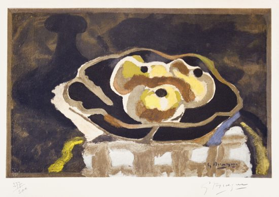 Georges Braque Lithograph, Still Life with Apples, 1956