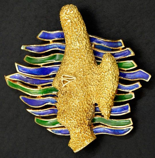 Georges Braque Jewelry, Gaia Pin, 1962