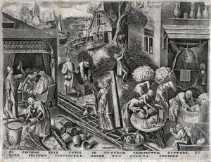 Pieter Brueghel the Elder Engraving, Prudence from The World of Seven Virtues, c.1559