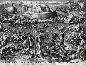 Pieter Brueghel the Elder Engraving, Fortitude from The World of Seven Virtues, c.1560