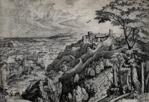Pieter Brueghel the Elder Engraving, Saint Jerome in the Desert, c. 1555-56