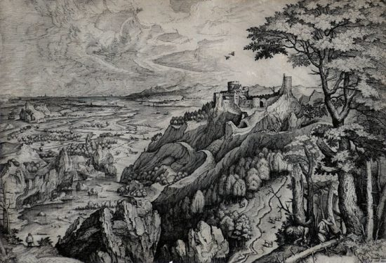 Pieter Brueghel the Elder Lithograph, Saint Jerome in the Desert, c. 1555-56