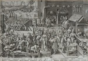Pieter Brueghel the Elder Engraving, Justice from The World of Seven Virtues, c.1559