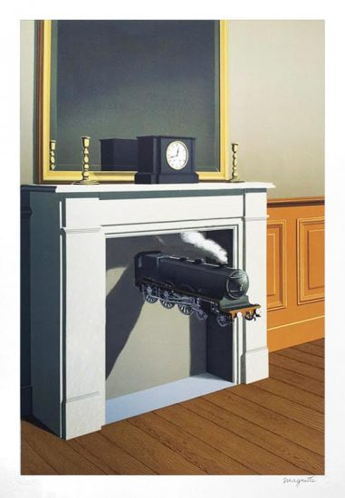 René Magritte Lithograph, Time Transfixed