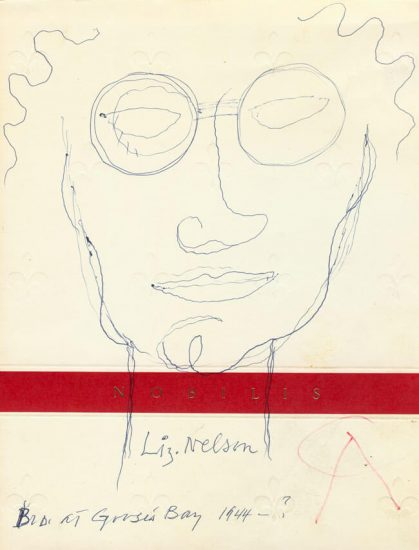 Alexander Calder Drawing, Untitled 'Liz Nelson', 1944