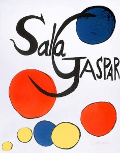 Alexander Calder Lithograph, Sala Gaspar, 1970