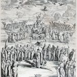 Jacques Callot Engraving, La Triomphe de la Vierge, ou Petite Thèse (Triumph of the Virgin or Small Thesis), 1625