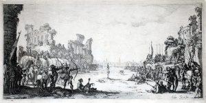 Jacques Callot Engraving, The Martyrdom of Saint Sebastian, c. 1634
