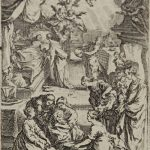 Jacques Callot Engraving, Birth of the Virgin from Life of the Virgin, c. 1632 - 1633
