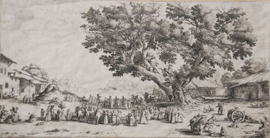 Jacques Callot Lithograph, The Fair at Gondreville, c. 1624-25
