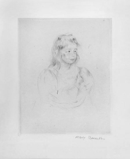 Mary Cassatt Etching, The Party Dress,1904