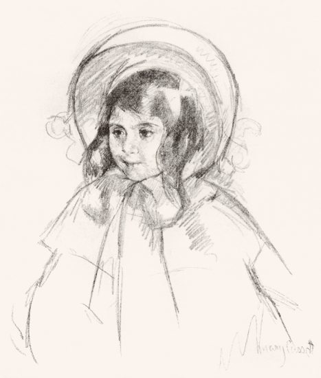 Mary Cassatt Lithograph, Sara Wearing Her Bonnet and Coat, c. 1904