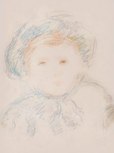 Mary Cassatt Drawing, Child in a Bonnet