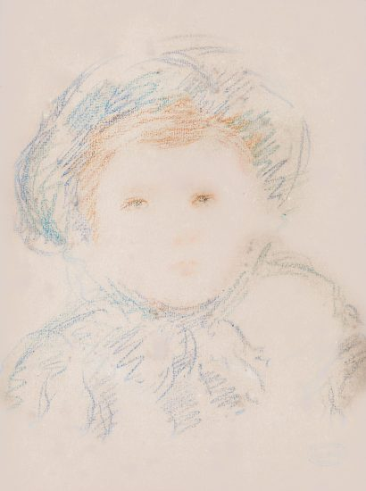 Mary Cassatt Lithograph, Child in a Bonnet