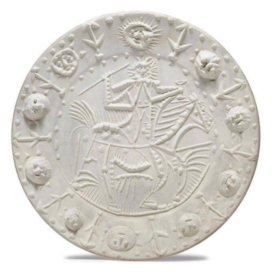 Pablo Picasso Ceramic, Faune Cavalier (Cavalier Faun), 1956
