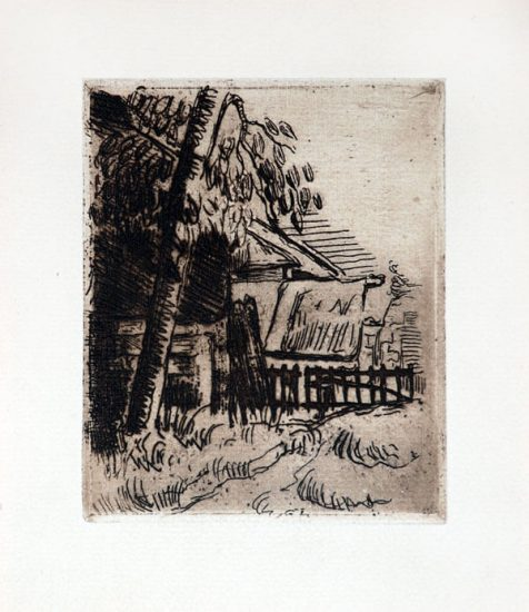 Paul Cézanne Etching, Paysage á Auvers (Landscape in Auvers), 1873