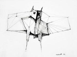 Lynn Chadwick Lithograph, Study