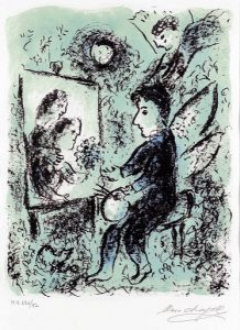 Marc Chagall Lithograph, Vers l'Autre Clarte (Towards Another Light), 1985