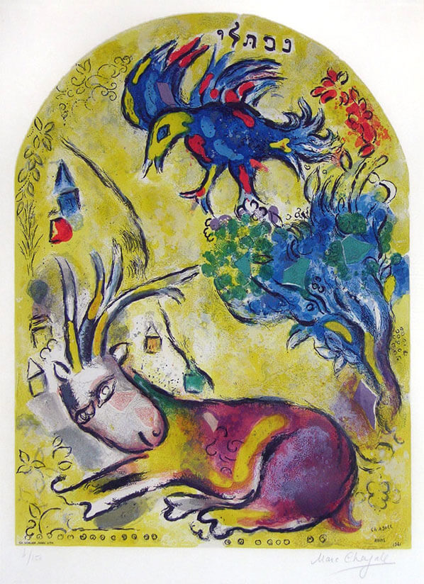Marc Chagall, The Tribe of Naphtali, from The Twelve ... Chagall Bijbel
