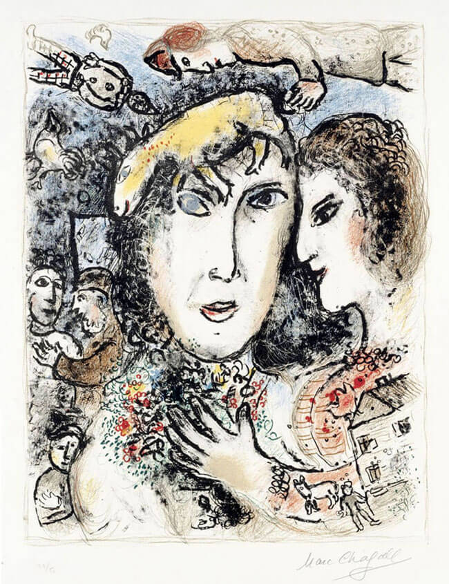 Marc chagall la famille du peintre the artist 39 s family for Chagall peintre