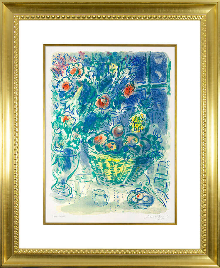 marc chagall corbeille de fruits et ananas basket of fruit and pineapples 1964 lithograph. Black Bedroom Furniture Sets. Home Design Ideas