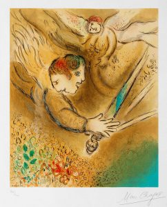 Marc Chagall Lithograph, The Angel of Judgment (L'ange du jugement), 1974