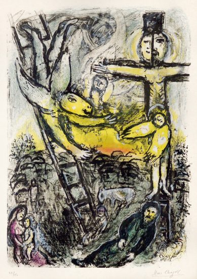Marc Chagall Lithograph, Vision de Jacob (Jacob's Vision), 1971