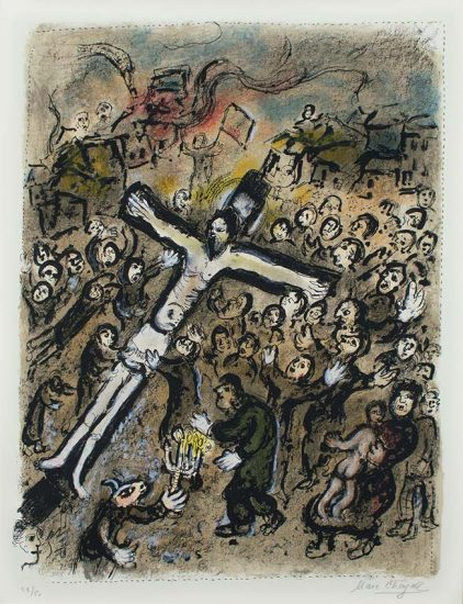 Marc Chagall Lithograph, Le Martyr (The Martyr), 1970