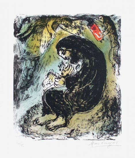 Marc Chagall Lithograph, Méditation (Meditation), 1979
